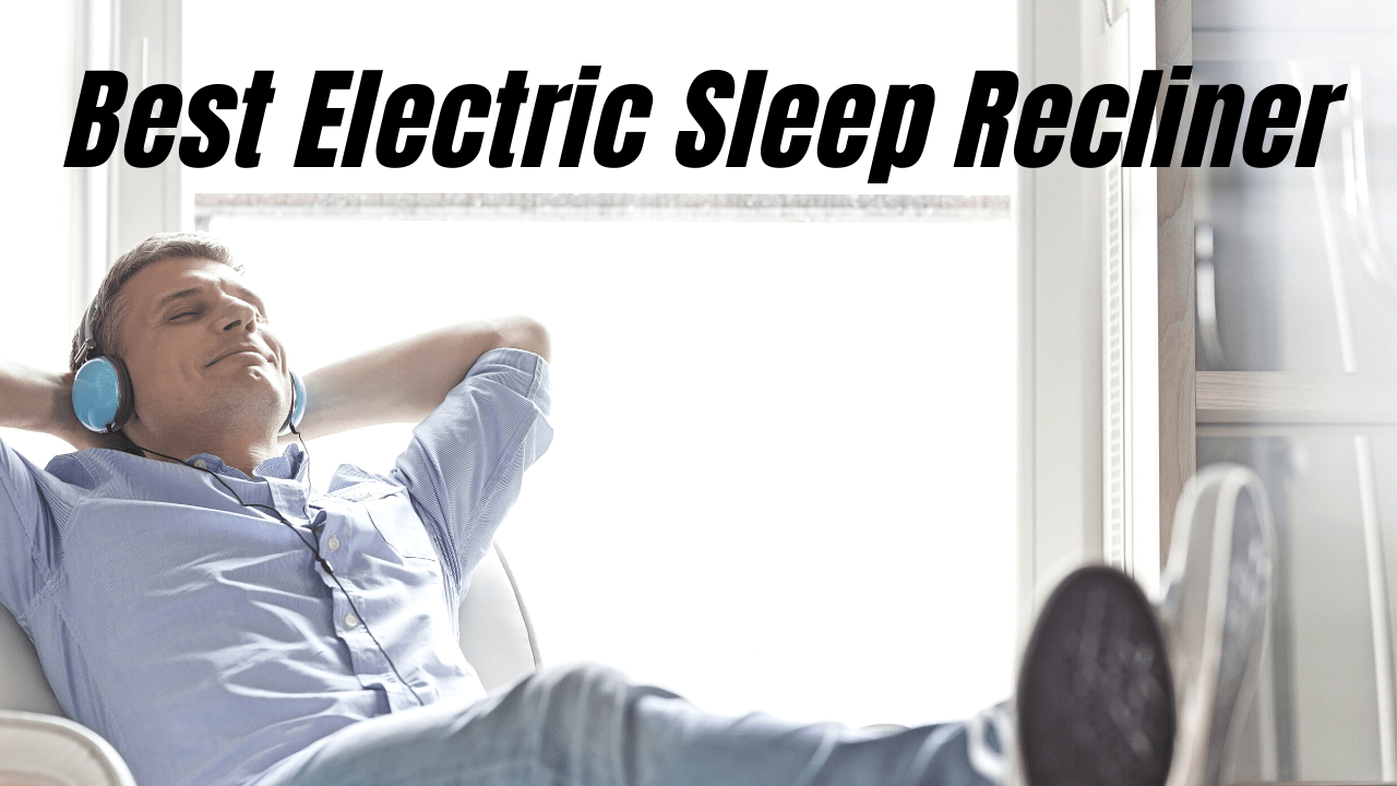 Man enjoying the comfort of an electric sleep recliner