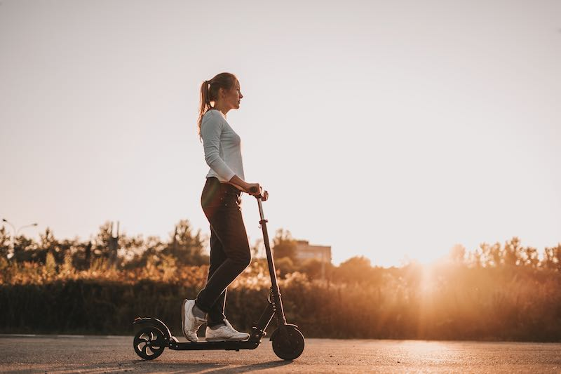 Electric scooters can improves your balance.