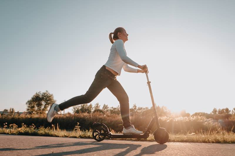 Riding electric scooters can improves your flexibility