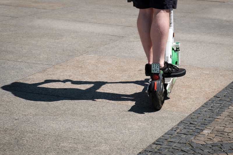 Riding an e-scooter can improve your muscle strength
