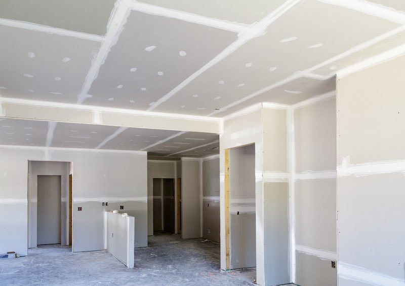 getting the drywall right is the first step of tiling projects